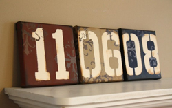 display your wedding date at your wedding
