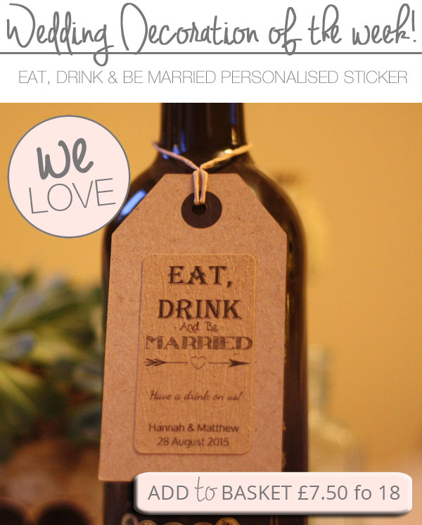Eat Drink And Be Married Wine Labels Wedding Wine Labels: Eat Drink And Be Married Stickers ( Can Be Personalised