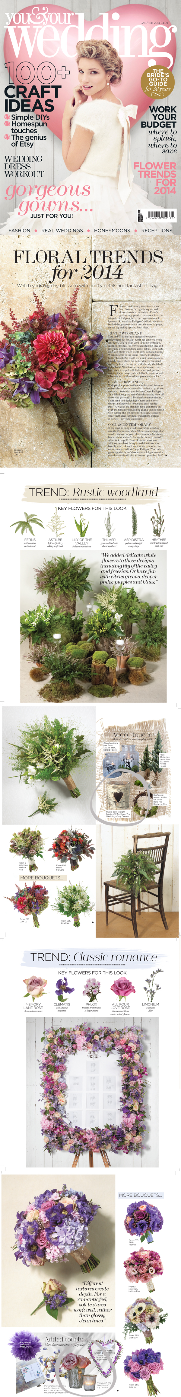 floral wedding trends 2014 woodland classic romance