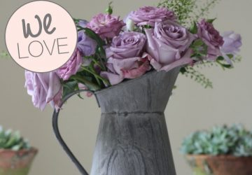 grey jug wedding table decoration