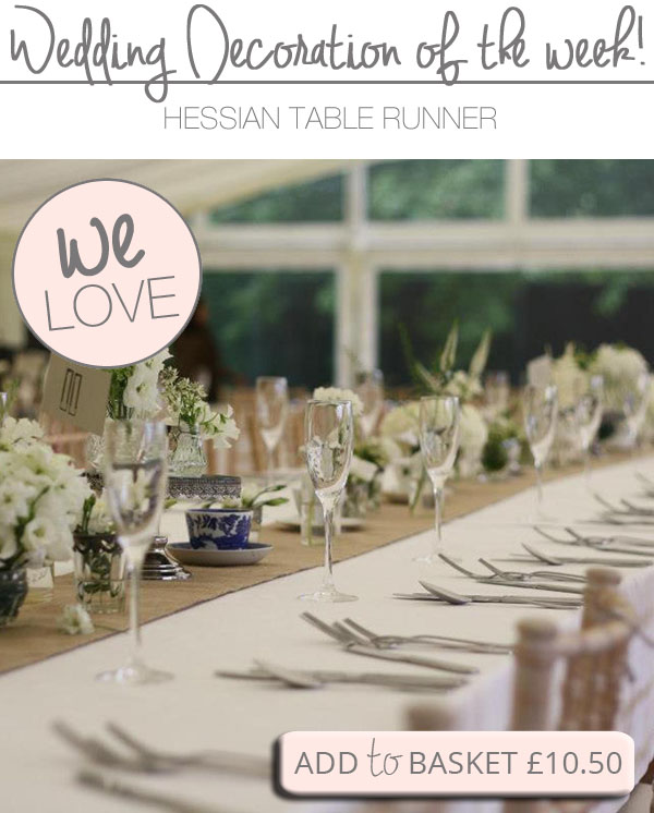 hessian table runners for weddings