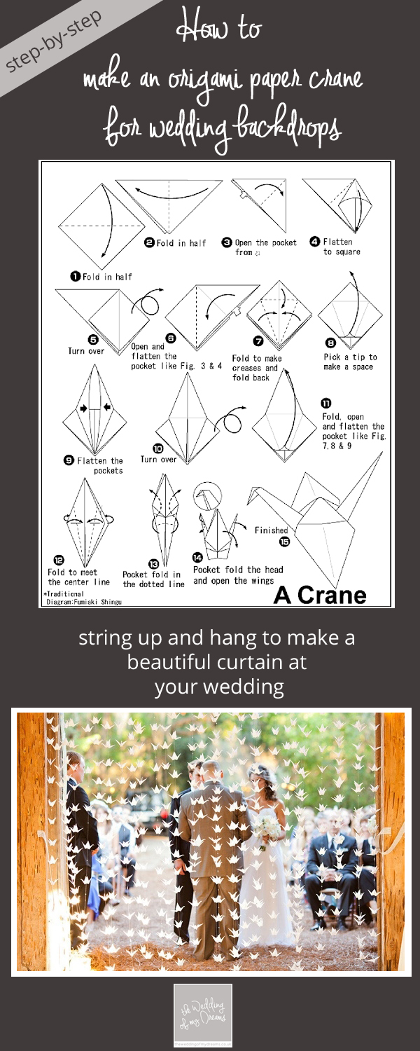 how to make origami paper cranes wedding step by step copy