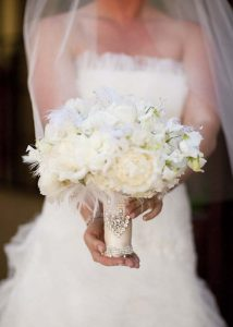 luxe bouquet wraps crystals