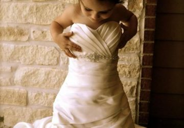 take a photo of your daughter in your wedding dress hide it and give it to her on her wedding day