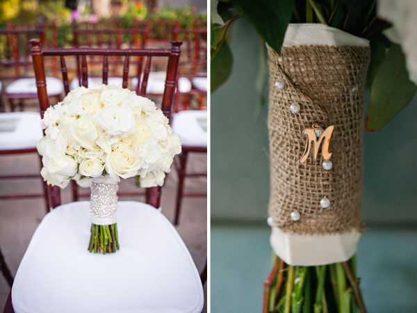 wedding bouquet wraps ribbon hessian burlap silver