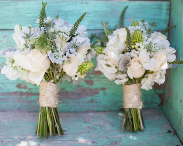 wedding bouquet wraps ribbon twine rustic