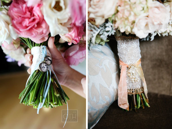 wedding bouquet wraps ribbon vintage