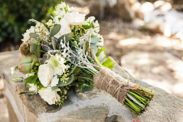 wedding bouquet wraps rustic twine