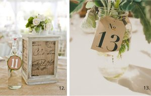 wedding table number luggage tags