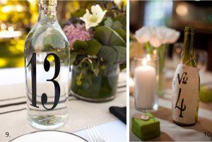 wedding table numbers wine bottle 2