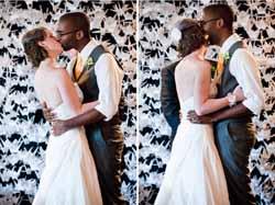 white paper cranes wedding ceremony backdrop