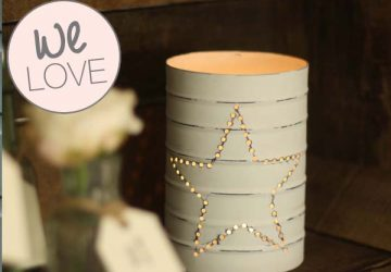 white tin can lanterns wedding decorations