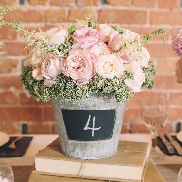 Blackboard Bucket Chalk Bucket Wedding centrepiece