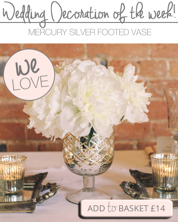 MERCURY SILVER VASES FOOTED VASE WEDDING CENTREPIECEMERCURY SILVER VASES FOOTED VASE WEDDING CENTREPIECE