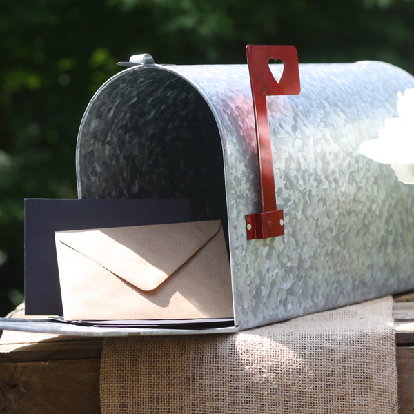 Rustic Wedding Mailbox American Style