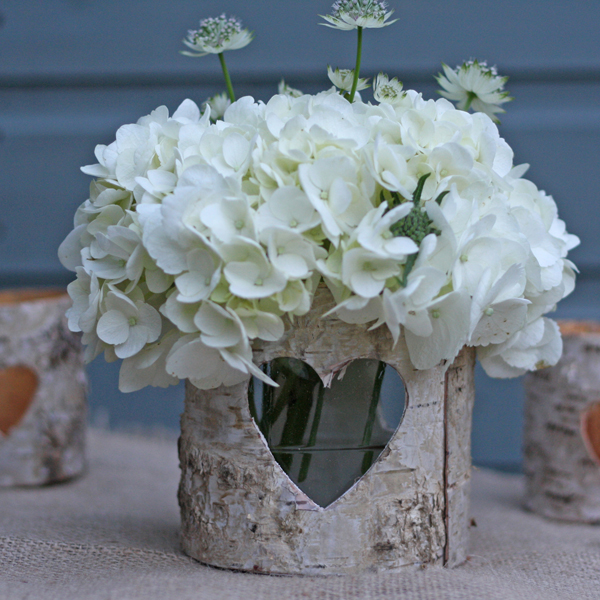 birch bark table centre  rustic centrepices