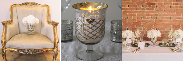 mercury silver vase candle holders wedding