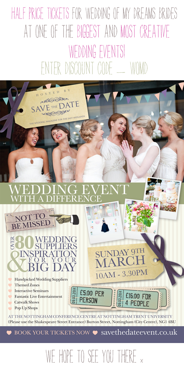 wedding event with a different half price tickets discount