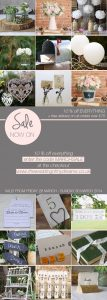 10 percent sale at the wedding of my dreams wedding decorations shop