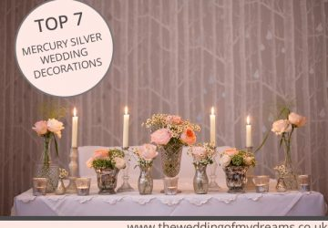 best 7 mercury silver wedding decorations copy