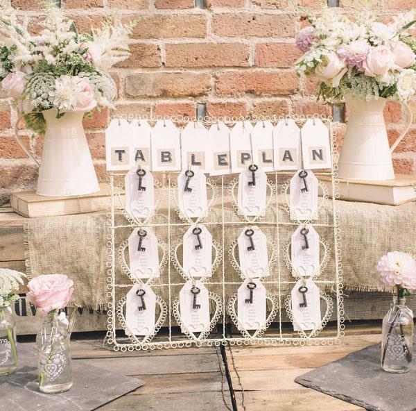 cream jug wedding decorations