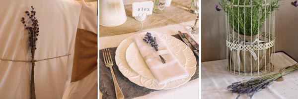 driedn lavender weddings place settings