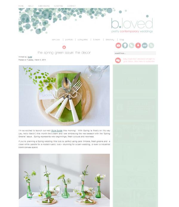 green glass bottles spring wedding centrepieces