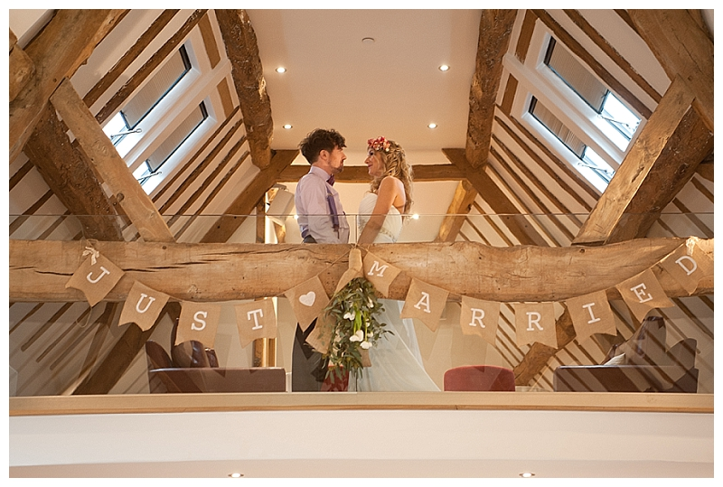 hessian just married bunting