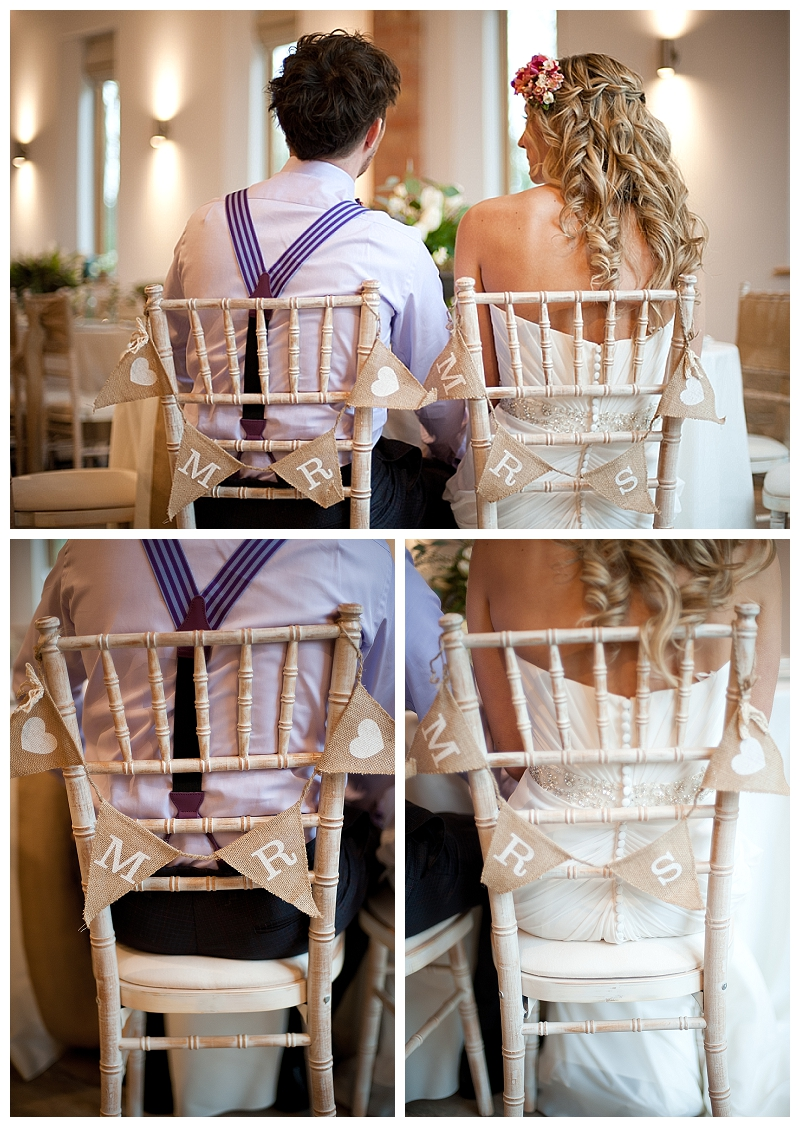 mr mrs chair back hessian burlap