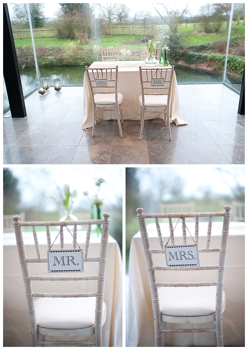 mr rms wedding chair back signs black white wooden