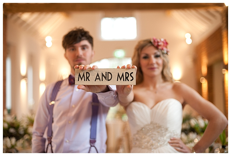 small mr mrs wooden sign