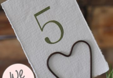 wedding table number holders rustic