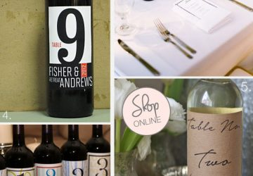 win bottle wedding table numbers