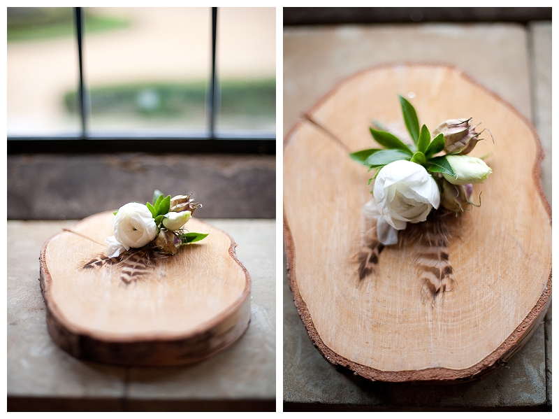 wooden tree slice for wedding button holes