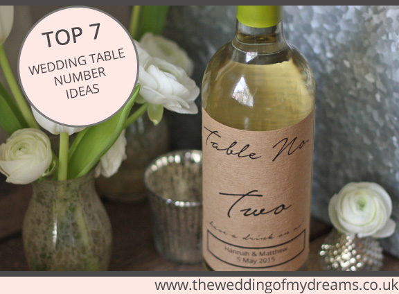 best 7 wedding table number ideas