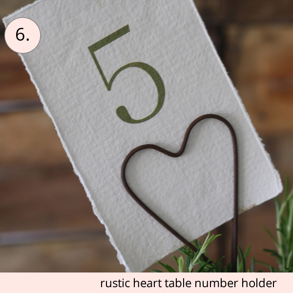 best wedding table numbers rustic heart table number holder