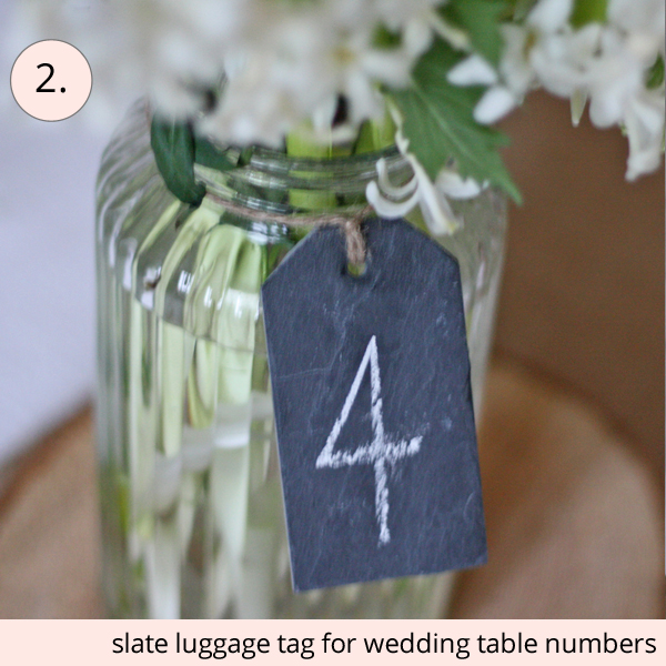 best wedding table numbers slate luggage tags