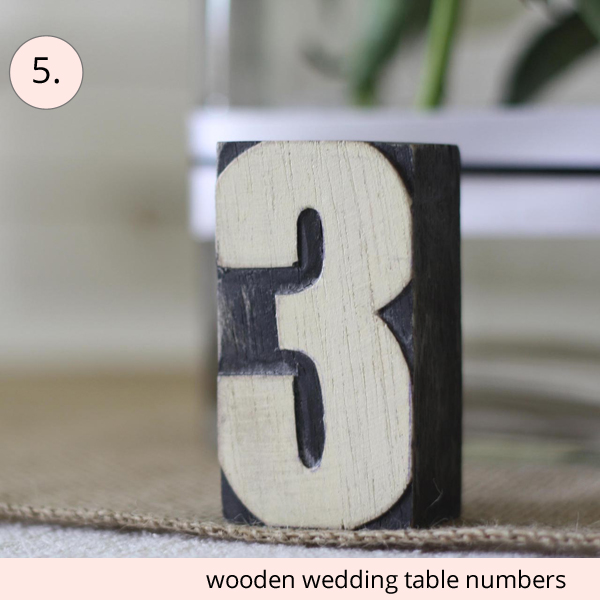 best wedding table numbers wooden