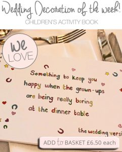 childrens wedding activity book colouring puzzles