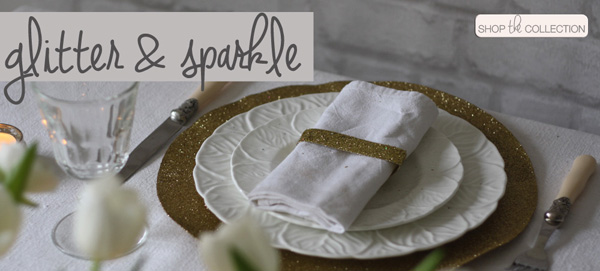 glitter and sparkle wedding decorations