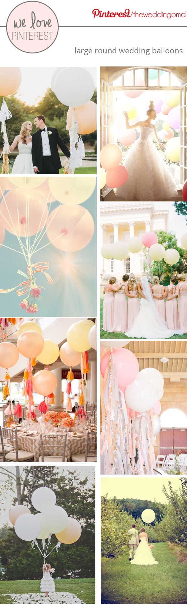large round wedding balloons