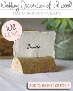 rustic bark card holders wedding copy