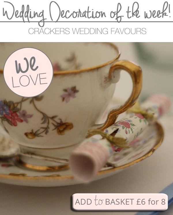 vintage wedding favours crackers