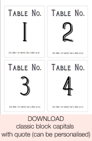 Printable Table Number Templates | Printable Paper