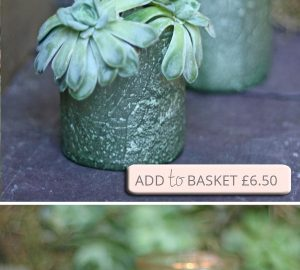 green bud vase tea light holder recycled organic glass succulent copy