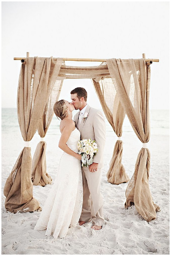 hessian ceremony drapes for beach wedding hessian wedding ideas