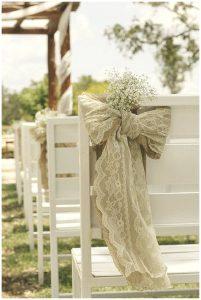 hessian lace chair backs hessian wedding ideas