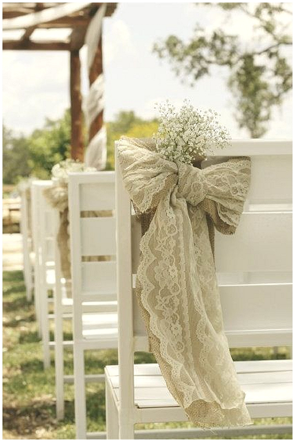 hessian lace chair backs hessian wedding ideas