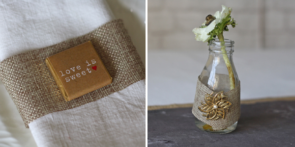 hessian ribbon for sale wedding styling