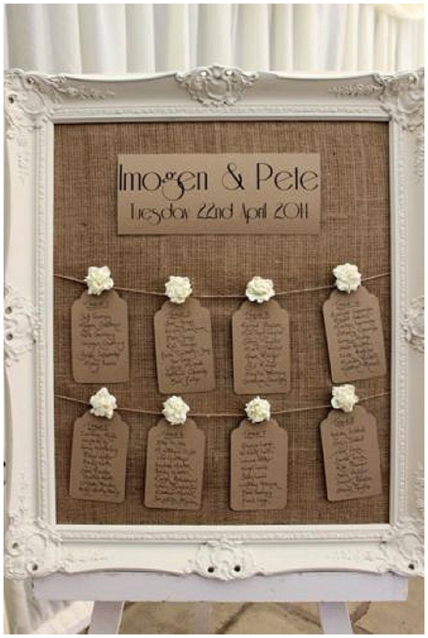 hessian wedding ideas burlpa table plan